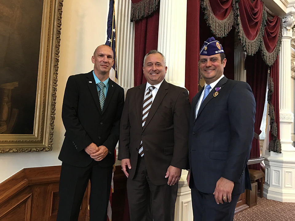 Rep. Bohac with Purple Heart recipients
