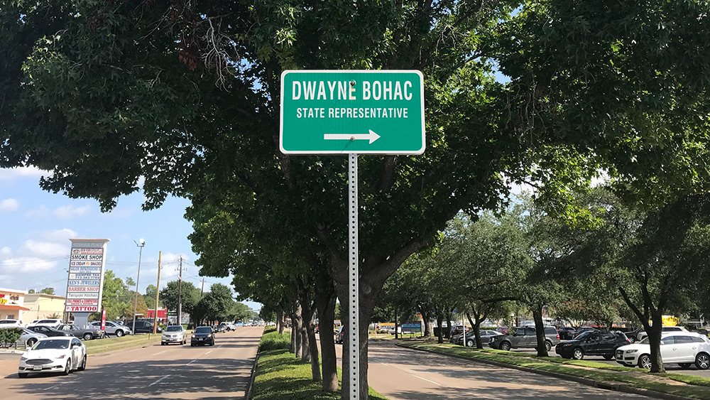 Bohac District Office Sign